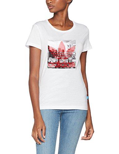 adidas Damen Trefoil T-Shirt, White, 44 (Gerippte Jersey Herrliche)