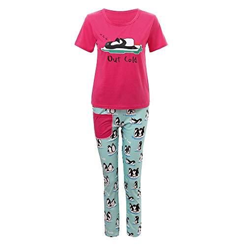 Yesmile Familien Outfit Weihnachten Nachtwäsche Mama & Papa Pyjamas Set Ich Kinder Mädchen Jungen Hirsch Pinguin Drucken Kleidung Familien Set Kinder Damen Herren Kleidung