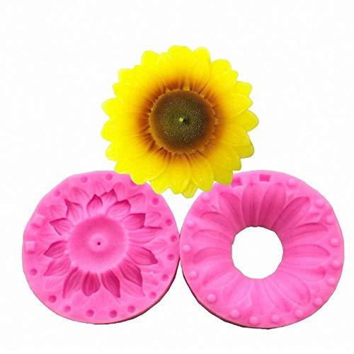 Tone Sonnenblume (DLC@ED 3D Sonnenblumen Silikonform Für Weiche Schokoladenkuchen Dekoration Süßigkeiten Seife Polypropylen-Ton Exquisite Silikonform Fda-Zugelassene Lebensmittelqualität Bpa Fr)