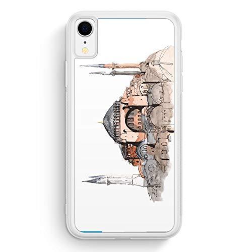 Hagia Sophia Ayasofya Istanbul Türkei - Frosted Silikon Hülle für iPhone XR - Motiv Design Türkiye Cami Islam - Cover Handyhülle Schutzhülle Case Schale