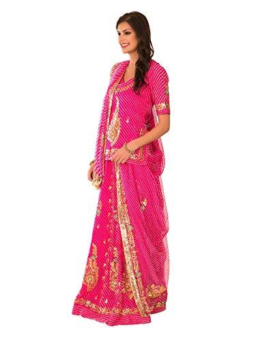 Gangaur Fashion Women's Cotton Straight Rajputi Poshak (SS-14, Multi Color, Medium)