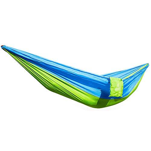 DCDZ Outdoor Camping Belt Bed Fallschirmtuch Hängematte Tragbare Hängematte 270cmX140cm Tragfähigkeit 150kg Geeignet Für Wandern, Camping, Wandern, Freizeit Mit Der Familie (Farbe : A)