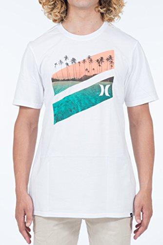 Hurley Herren T-Shirt Icon Slash Lagoon Weiss (100) S (Icon Hurley)