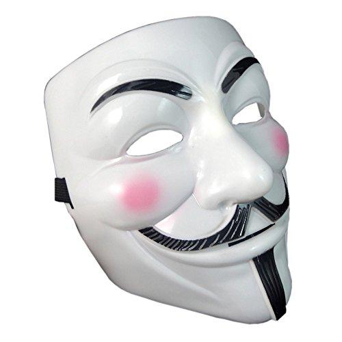 Onceall v per vendetta guy fawkes maschera halloween cosplay