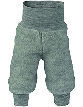 Baby Hose Fleece, 100% Schurwolle, Engel Natur mit Nabelbund