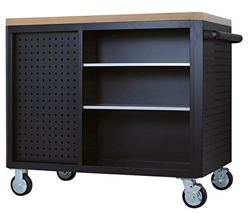 KS Tools Masterline Giant mit 11 Schubladen, 1 Tür und 2 Regalböden, schwarz / silber, 878.0012 - 3