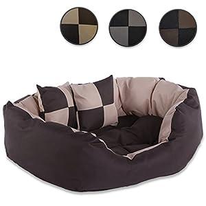 Lit pour chien - Coussin pour chien - Canapé pour chien lavable avec coussin réversible (Taille et Couleur au choix)