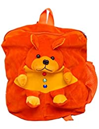 Jrp Mart Orange Bear Cute Teddy Soft Toy School Bag For Kids(Orange)