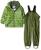 Racoon Baby-Jungen Regenjacke William Regenset 2teilig (Wassersäule 5000), Mehrfarbig Green for, 80