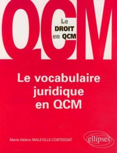 Le vocabulaire juridique en QCM