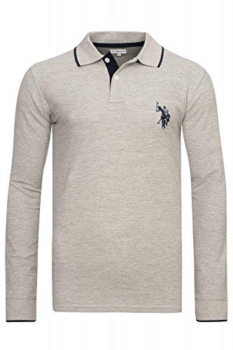 US Polo Association U.S. POLO ASSN. Herren 197/42608 Langarm Poloshirt Longsleeve Polo Shirt Grau
