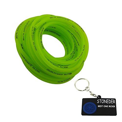 stoneder grün 9,5Meter 5mm Gas Kraftstoffschlauch Line Rohr Tube für Pit Dirt Motor Bike Motorrad ATV Quad 4Wheeler Go Kart Motocross Buggy (Gas Wheeler Vier)