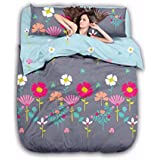 Style Your Home Comforter 4 Pcs Set | Comforter Set | AC Blanket | Comforter For Double Bed | Comforter Blanket Double Bed | 1 AC Comforter And 1 Double Bed Bed Sheet 2 Pillow Cover (Double, Floral Multicolor)