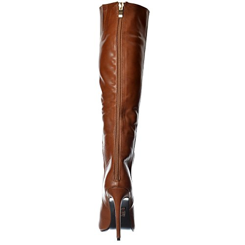 f02959aba198 Onlineshoe Women s Stiletto Heel Pointed Toe Knee High Boots Nero ...