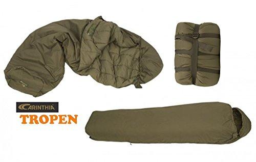 CARINTHIA Survival-Schlafsack Tropen mit Netz 185 cm Bundeswehr Militär Olivgrün Tarn