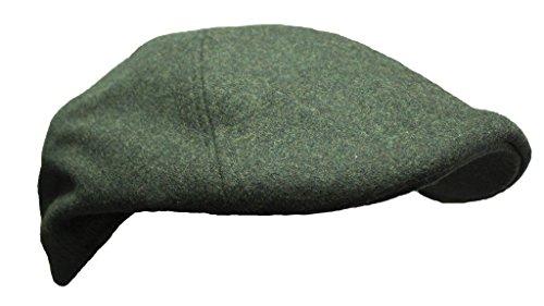 Mens wool mix Newsboy Gatsby Baker Boy Flat cap Olive Green hat by WWK / WorkWear King
