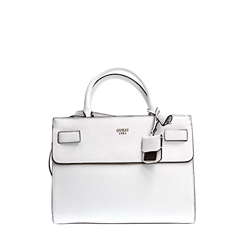 Guess - Cate Satchel, Borsa a mano Donna White