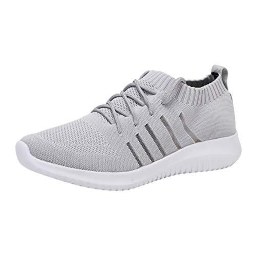 AIni Herren Schuhe,Sale 2019 Neuer Heißer Mode Beiläufiges Turnschuhe Atmungsaktives Mesh Laufschuhe Lässige Outdoor Wanderschuhe Partyschuhe Freizeitschuhe(42,Grau)