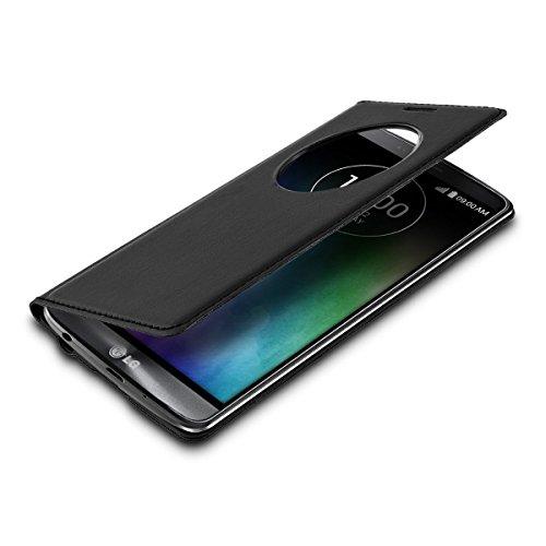 kwmobile Flip Case Hülle für LG G3 S D722V mit Sichtfenster - Aufklappbare Schutzhülle im Flip Cover Style in Schwarz