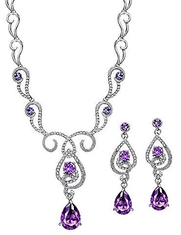 Neoglory Jewellery Silber mit Swarovski® Elements Schmuckset mit Zirkonia