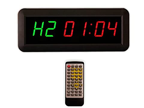 Eu Timer Boxing Interval Programmable Led Countdown / Up Stopwath Real Time Clock