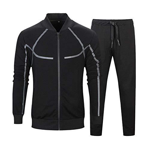 TECLEAN Men s Causal Tracksuit Set Full Zip Jogging Suits Sportwear  Athletic Sweat Suits (UK 2XL 8356fb157b4
