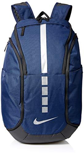 Nike Hoops Elite Pro Basketball-Rucksack, Midnight Navy/Black/MTLC cool Grey, MISC - Elite-basketball-tasche