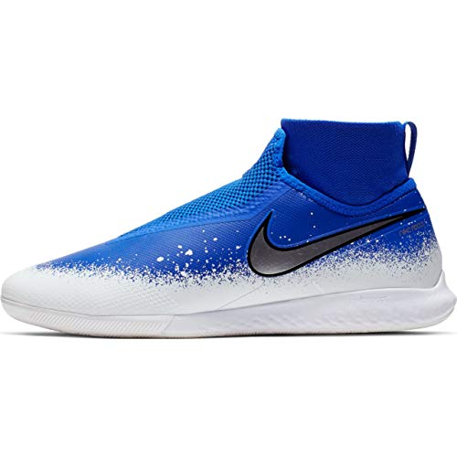 Nike React Phantom Vsn PRO DF IC, Scarpe da Calcetto Indoor Unisex-Adulto, Multicolore (Racer Blue/Chrome/White 000), 40 EU