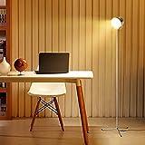 Albrillo LED Stehlampe mit Touch und Timer Funktion, Dimmbare 10W Standlampe und Farbtemperaturen einstellbar, enthalten Fernbedienung, Silber