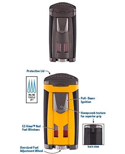 Lifestyle-Ambiente Xikar HP3 Feuerzeug Triple Jet-Flame Gunmetal inkl Tastingbogen