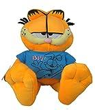 Garfield - Gato Garfield en Peluche con camiseta color azul 30cm - Calidad super soft