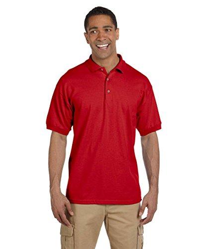 Gildan Ultra Herren Piqué Polo-Shirt, Kurzarm Rot - Rot