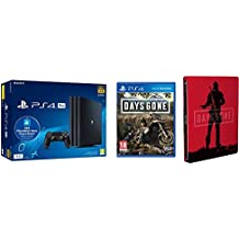 Playstation 4 Pro (PS4) - Consola de 1TB + 20 euros Tarjeta Prepago (Edición Exclusiva Amazon) - nuevo chasis G + Days Gone + Steelbook (Edición Exclusiva Amazon)