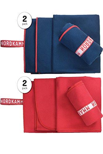 nordkamm-serviette-en-microfibre-ultra-lgre-kit-de-2-pices-petite-50x100-et-large-70x150-rouge-ou-bl