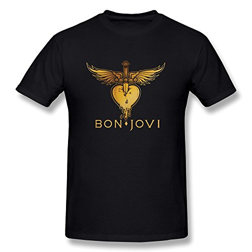 Mokro Men's Bon Jovi Logo T-Shirt Black