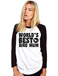 HotScamp World's Best Bird Mum - Bird Lover Pet Owner Gift - Womens Baseball Top