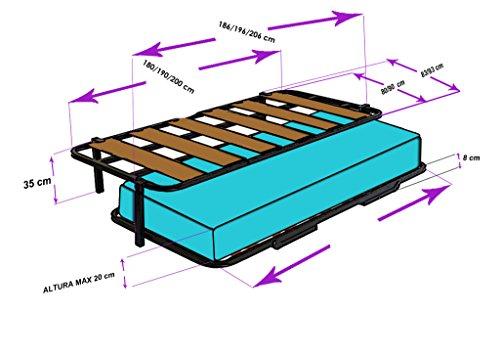 Nido con 2 somieres estructura reforzada doble barra superior patas 2 - Somieres cama nido ...
