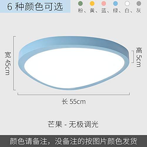 Led ultradünne minimalistische Schlafzimmer Studie Lampe Mango 55 Versprechen blau