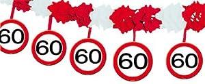Folat 05235 - Guirnalda de señal de tráfico para 60 cumpleaños con perchas, multicolor