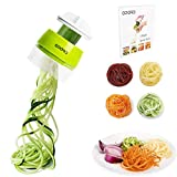 Opard Vegetable Spiralizers 4 in 1 Design Hand Held Lightweight Green Vegetable Spiral