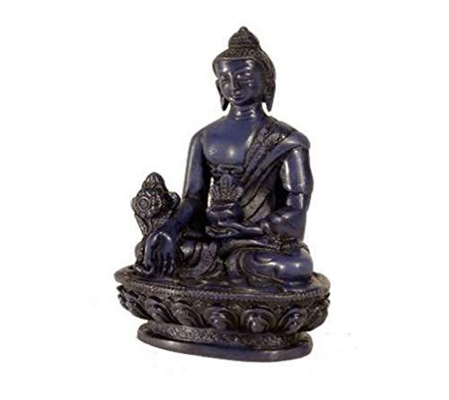 Deko-Figur / Buddha-Statue, Symbol der Heilung, aus Kunstharz, 10,5cm hoch, Indigoblau (Symbol Heilung Der)