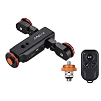 Andoer L4 PRO Motorized Camera Slider Dolly with Remote, 3 Speeds Rechargeable Mini Video Slider Stabilizer for Canon Nikon Sony Camera Smartphone