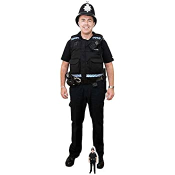 POLICEMAN LIFESIZE CARDBOARD CUTOUT STANDEE STANDUP SC76 POLICEMAN UK COP SECURI