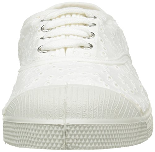 Bensimon Damen Tennis Broderie Anglaise Low-Top Weiß - Blanc (101 Blanc)