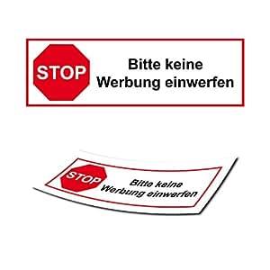 briefkasten aufkleber stop keine werbung sticker post verbot aufkleber briefkastenschilder. Black Bedroom Furniture Sets. Home Design Ideas