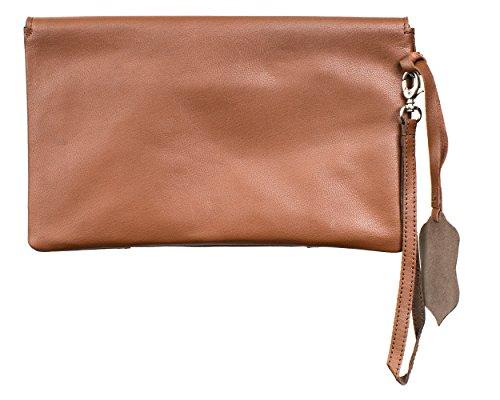 Joselle Clutch vintage Bag A1011-1, Poschette giorno donna Marrone (Cognac)