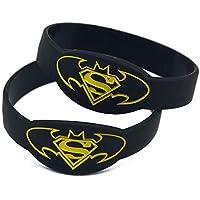 Comparador de precios North King Pulseras de Silicona con Pulseras de Goma de 'Batman Vs Superman' Refranes para Adultos y niños de Piezas del Set - precios baratos