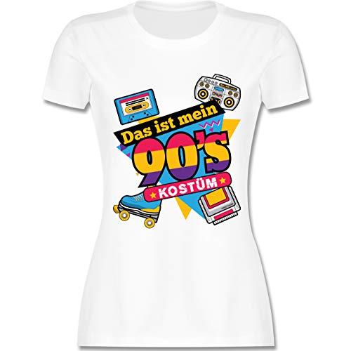 Karneval & Fasching - Das ist Mein 90er Jahre Kostüm - M - Weiß - L191 - Damen Tshirt und Frauen - Game Boy Kostüm