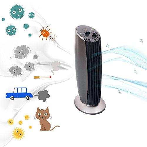 Ionen Luftreiniger für Räume bis 20m² | von Allergikern empfohlen | Rauch Geruch Entferner | entfernt Staub, Pollen, Schadstoffe und Geruchsstoffe
