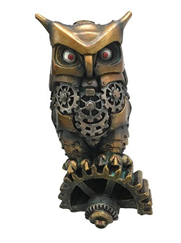 Gifts & Decor Steampunk Nocturnal Messenger Spy Eule Deko Briefbeschwerer Figur 17,1 cm H